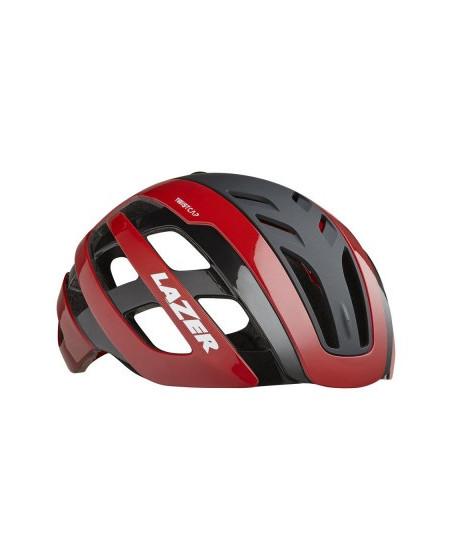casque rouge vélo