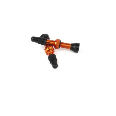 valve presta tubeless orange
