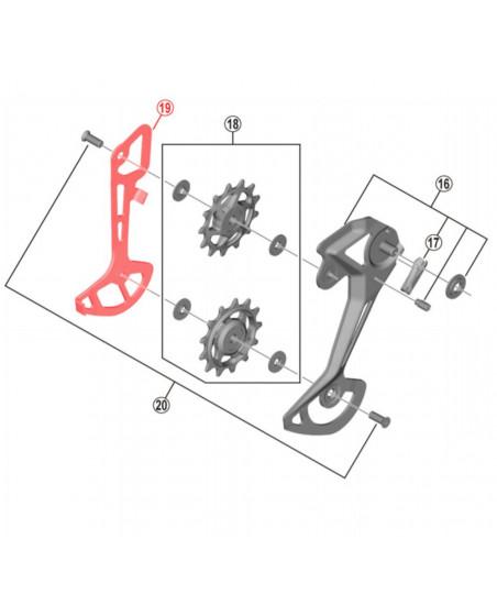 entretoises interne dérailleur M8100