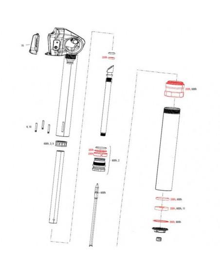 kit entretien tige de selle AXS