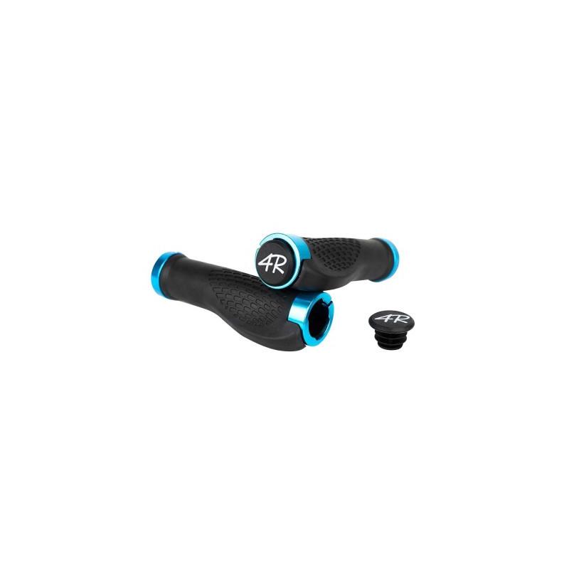 poignée ergonomique bleu VTT