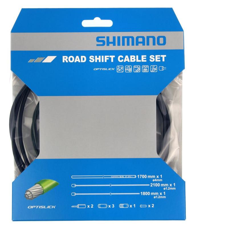 kit cable et gaine dérailleur shimano