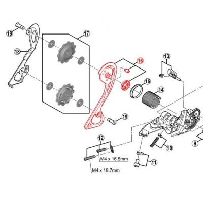 chape externe dérailleur xt M786